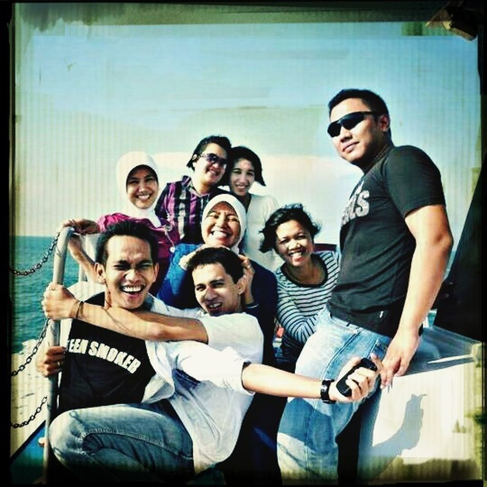 Hanging Out Enjoying Life Hello World On Water on our way to malaysia, to rock our holidays....