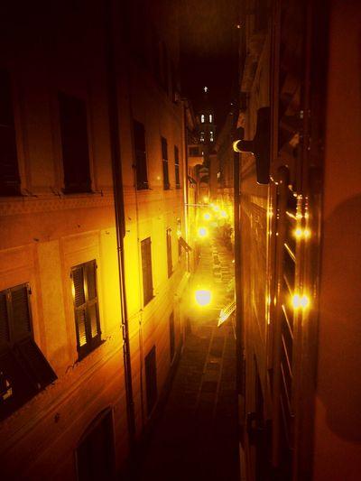 Rapallo's window Night Street Light Residential Building