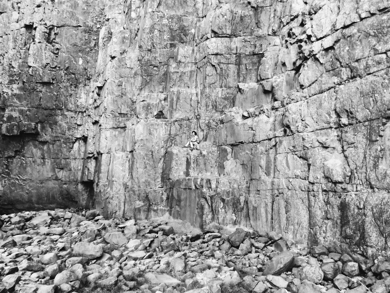 Outdoors No People Stone Solitude Bolivia Nature Blackandwhite Hiding Manvsnature