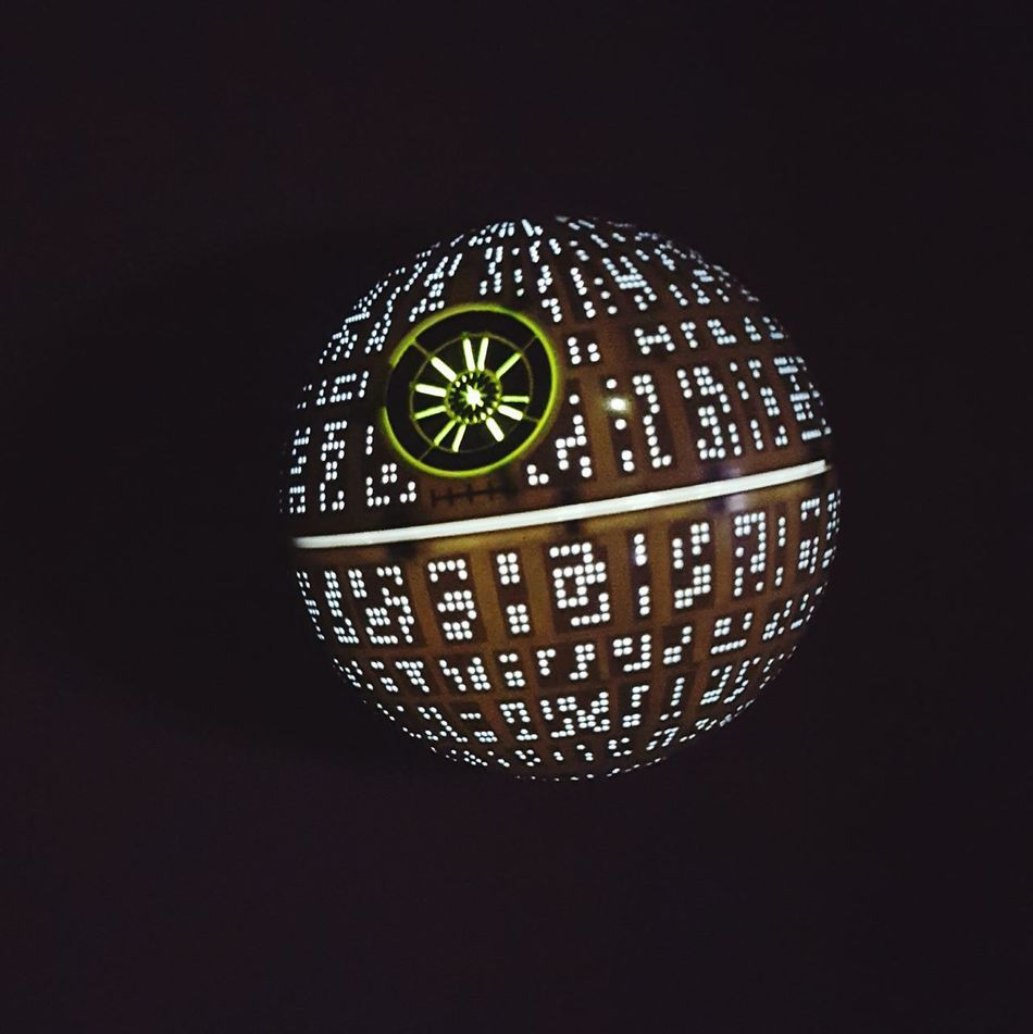 death star is in da house! ☺ Starwars Star Wars Death Star Decoration Interior Design Lights Night Lights