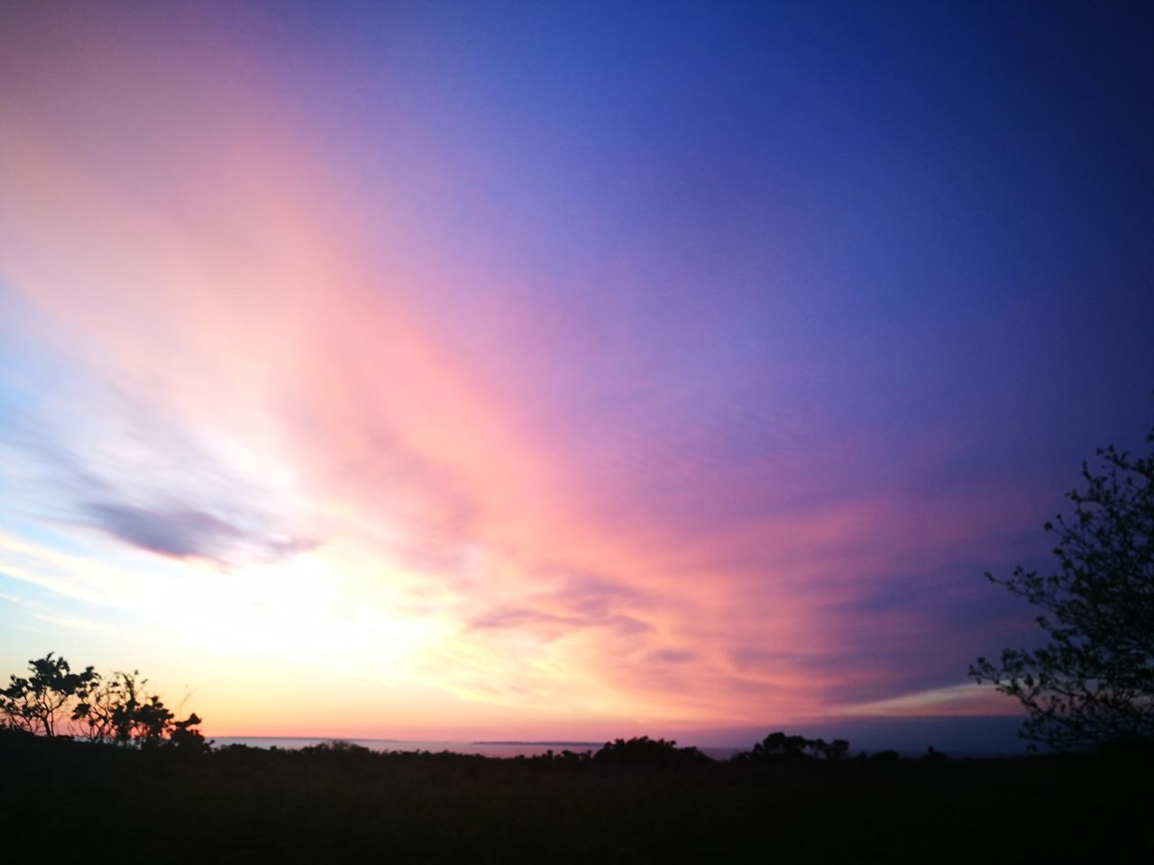 sunset, silhouette, tranquil scene, scenics, nature, tranquility, tree, beauty in nature, sky, no people, landscape, dusk, cloud - sky, outdoors, day