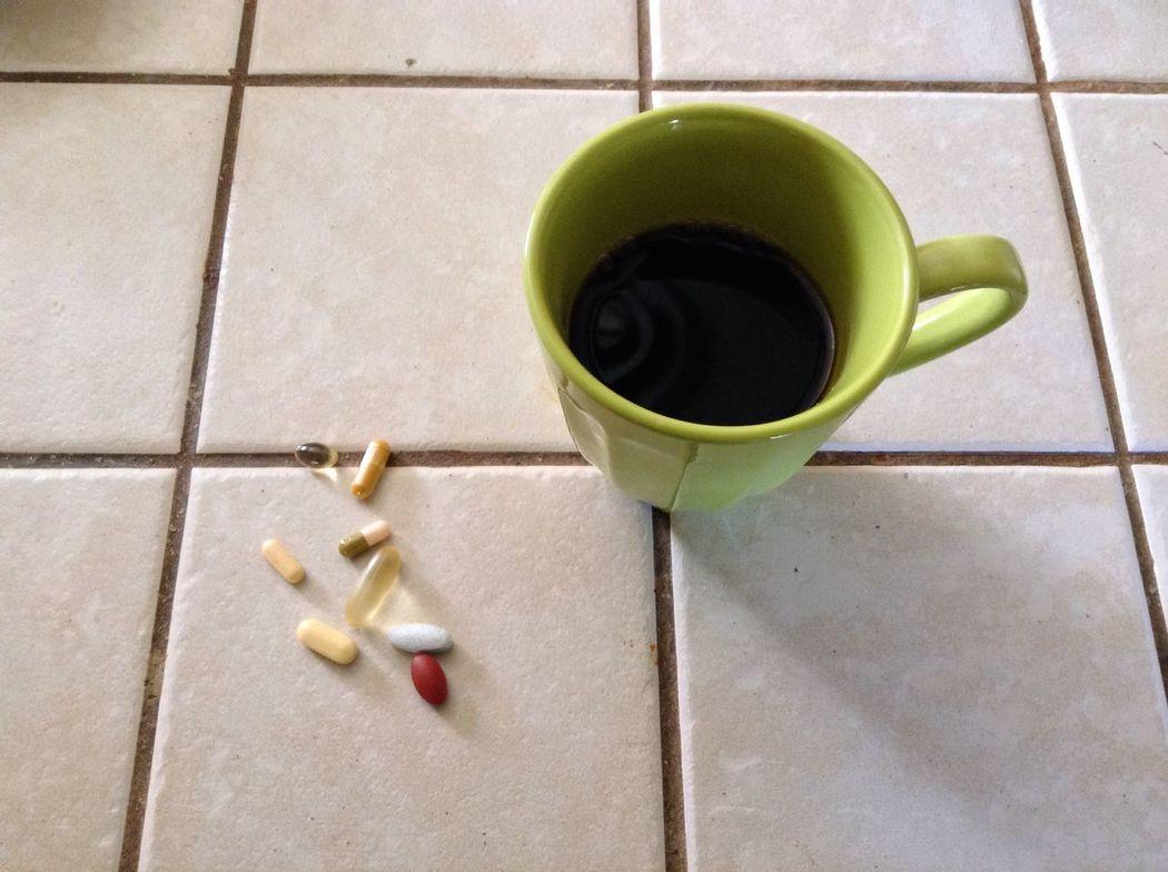 Breakfast. Coffee Pills