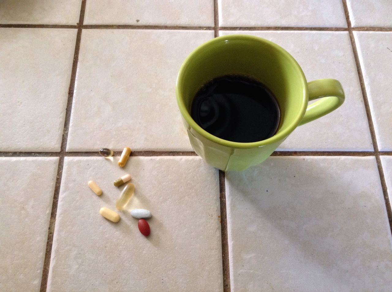 Breakfast. Coffee Pills