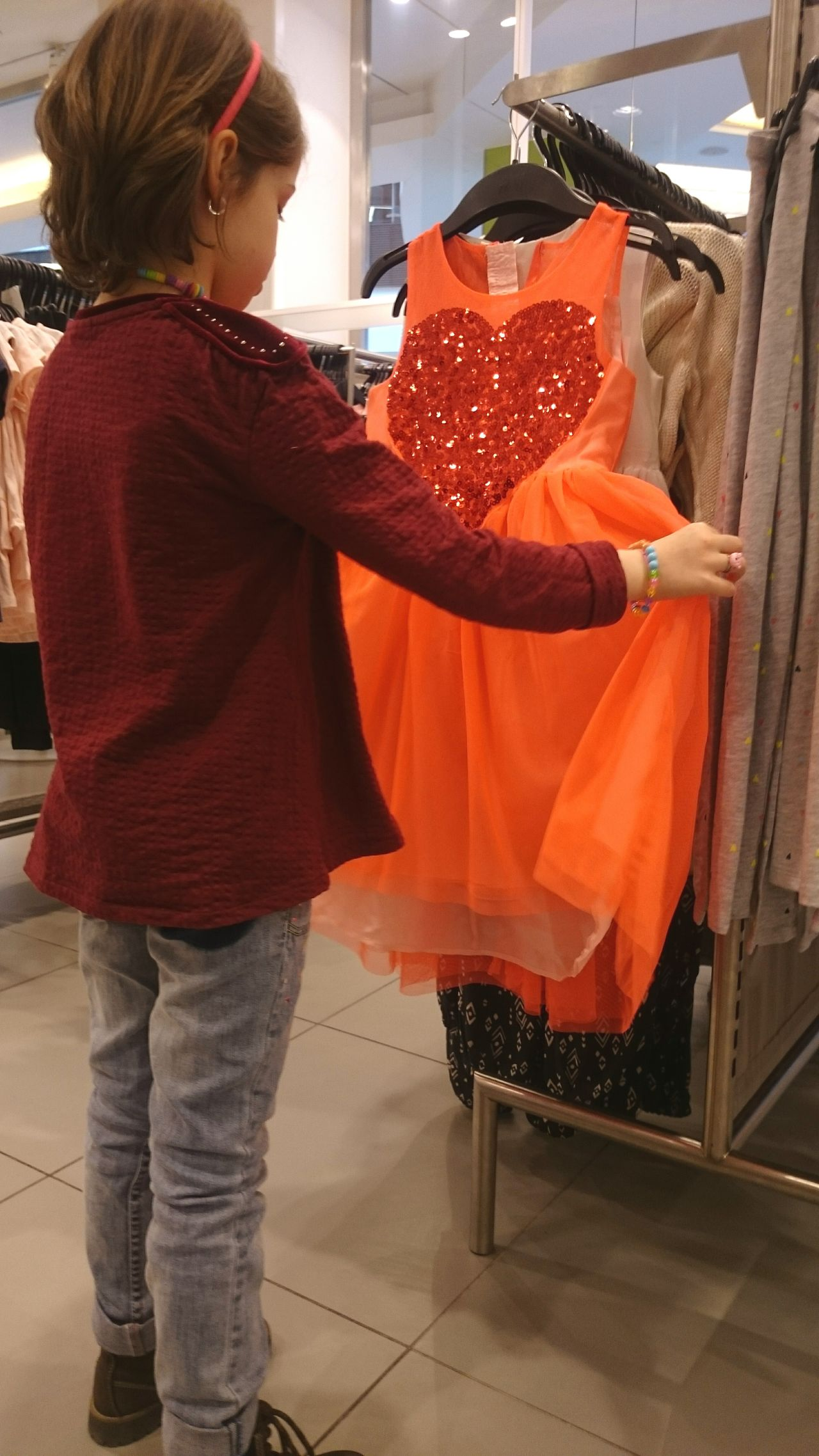 She didn't left the shop without that dress... Wish Child Desire I Wish I Could Have It Princess Dreams Best Dress Taking Photos Enjoying Life Beautiful Girl Wishes A Dress Happiness Priceless Shopping Shopping Therapy Urban Spring Fever Week On Eyeem