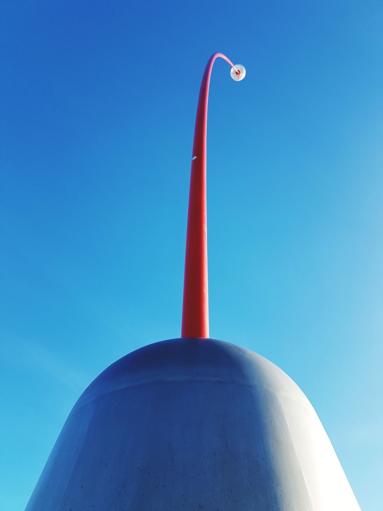 The Wind Wand. Blue Red Outdoors Sky NZ Newzealand New Zealand UrbanART Urban Art Monument Monuments Of The World