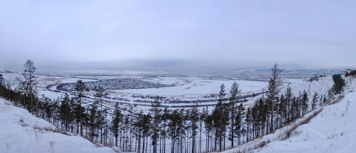 Winter White By CanvasPop Panoramic View Ulan-Ude Nofilter