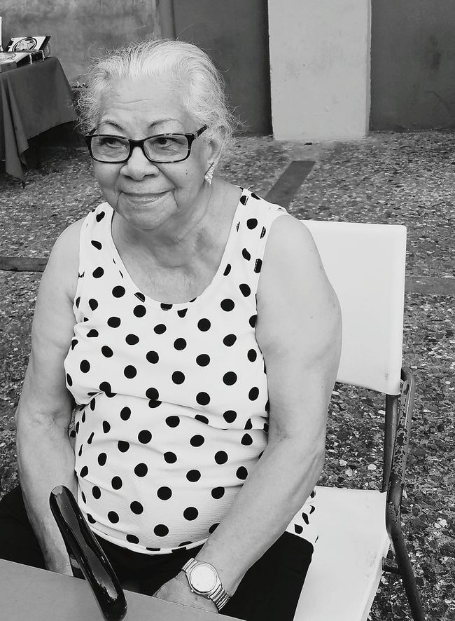 Enjoying Life Femenine Portrait Of A Woman Open Edit Monochrome Photography Simple Elegance My View Smile Is The Best Way To Live  Aging Beauty Wisdom
