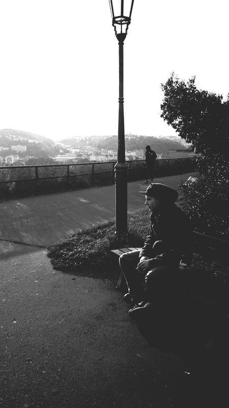 Praha2014 Vyšehrad Walking Black & White Portrait
