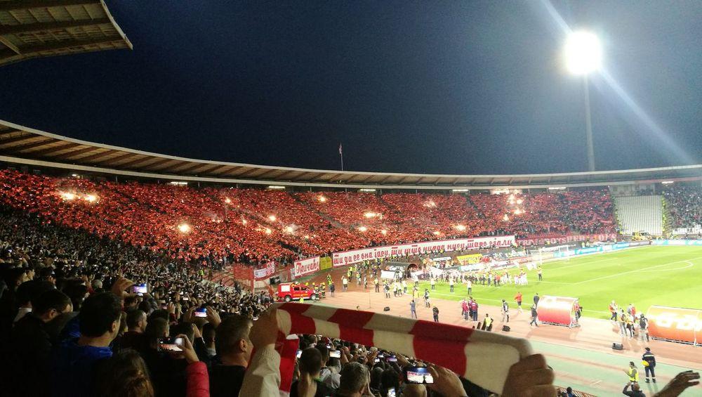 Crvena Zvezda Fudbal Soccer⚽ Derby Gameday Fans Hooligans Birthday Party 72 Years Niht & Lights