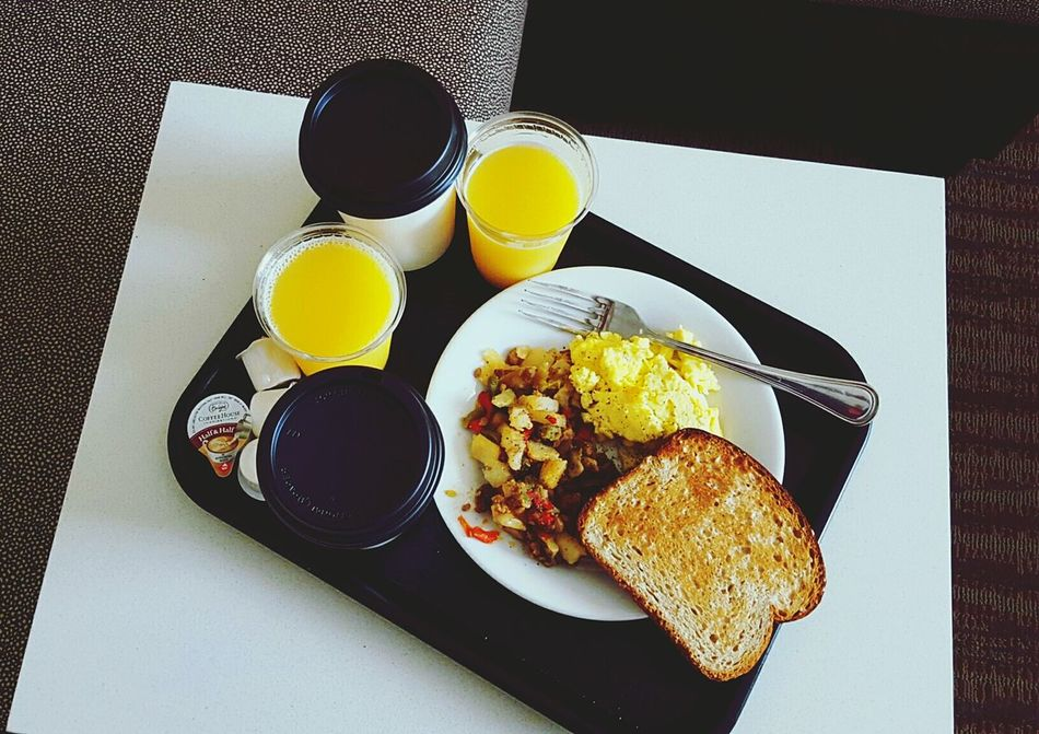My wonderful hotel breakfast! Sausage Has Hotel Breakfast Travel Toast Orange Juice  Oregon Ordering Room Service Food Photography The EyeEm Breakfast Club My World Of Food
