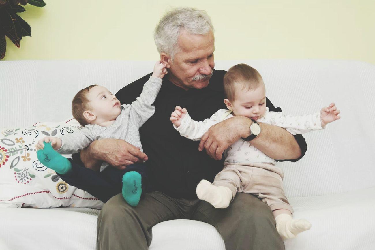 Bad Boys With Grandpa Enjoying Life Be Happy!