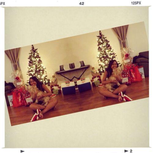"""Merry Christmas ya filthy animals!"" xoxo Hunter & I ❤"