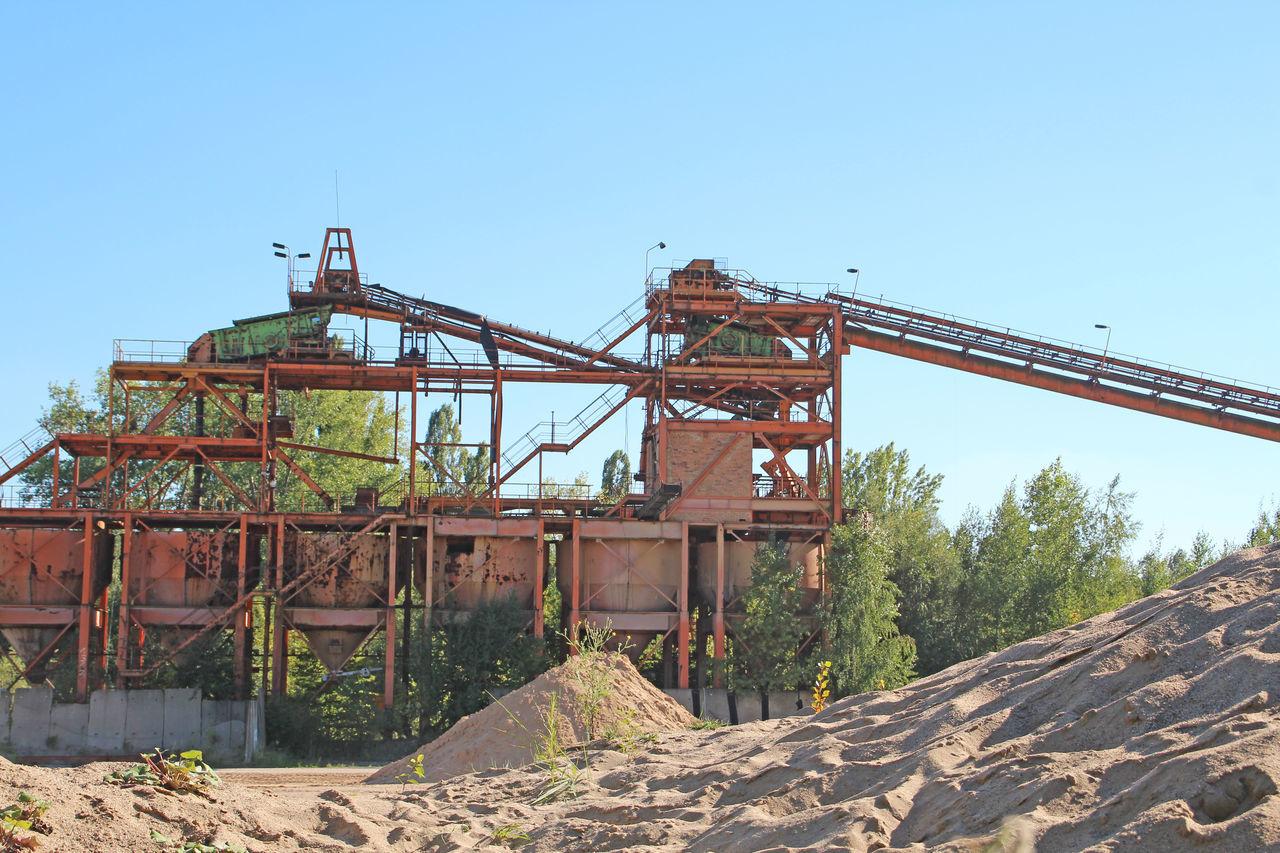 Kieswerk - gravel plant Construction Construction Site Conveyor Belt Crane - Construction Machinery Gravel Gravel Pit Gravel Plant Kies Kiesgrube Kieswerk Outdoors Sand