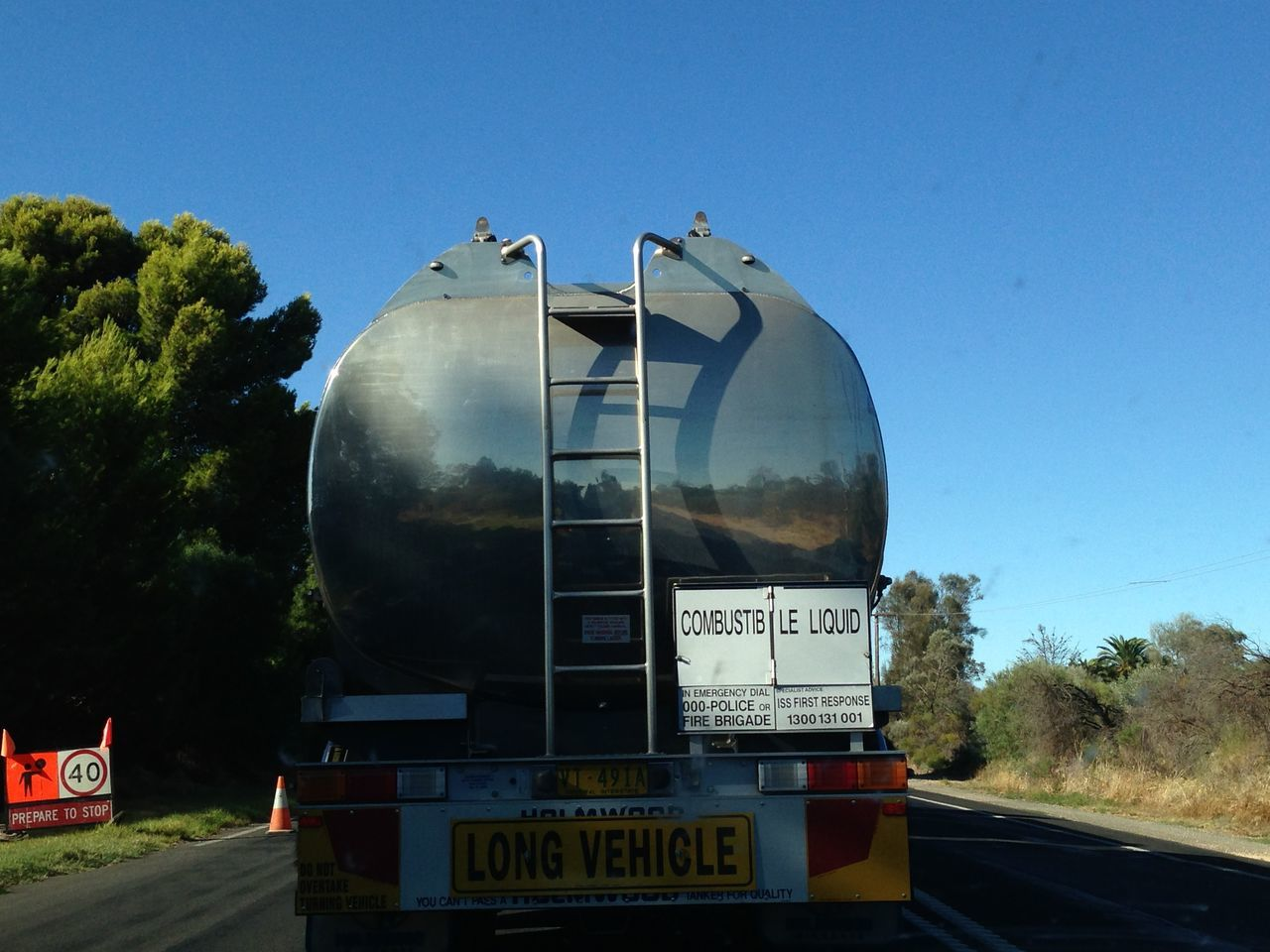 Desert Every Day Life First Eyeem Photo Long Vehicle Mirror Effect Murray River Tanker Wine!!
