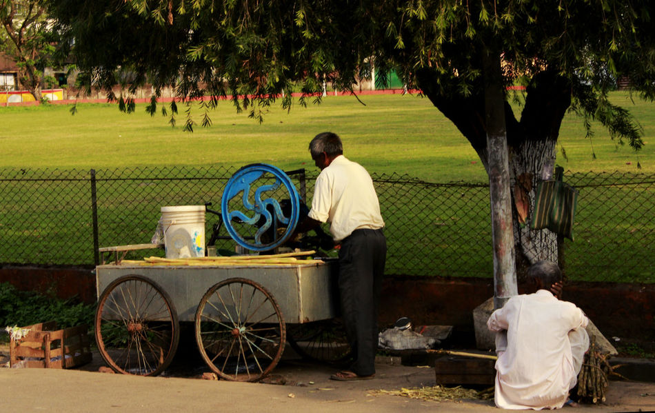 Afternoon Candid Photography Canon Canon Photography Daily Business  Daily Life Footpath Fruit Juice Seller Grass Grassy Leisure Activity Lifestyles Old Machines Old Man Relaxation Road Side Photography Rural Lifestyle Sugarcane Juice Sugarcane Juice Seller In Roadside Tree