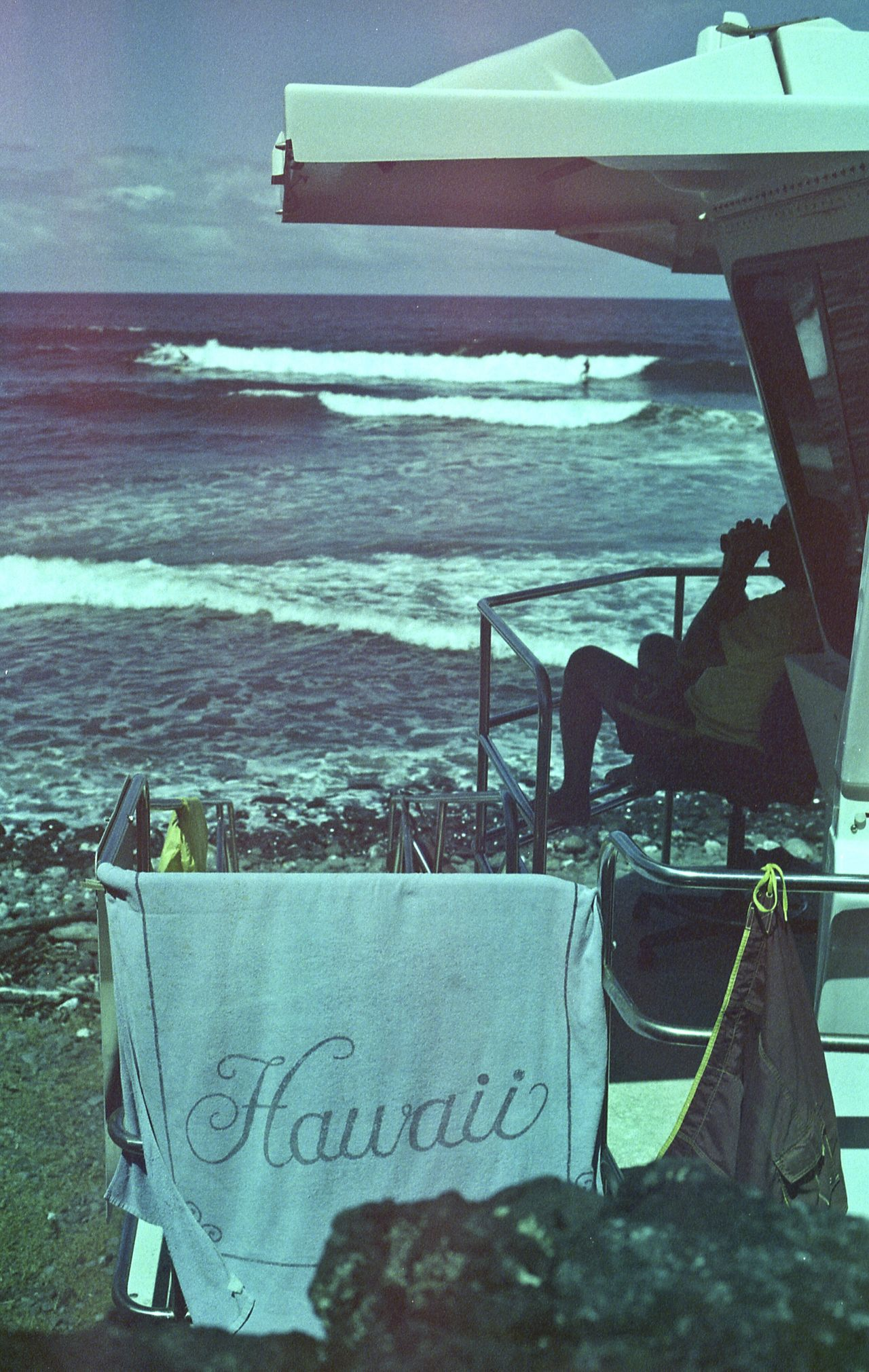 Sea Water Ocean Summer Shore Hawaii Bigisland Honolii Hilo  Lifeguard Station Lifeguard  Surf First Eyeem Photo Film Photography Analog Photography Travel 35mm
