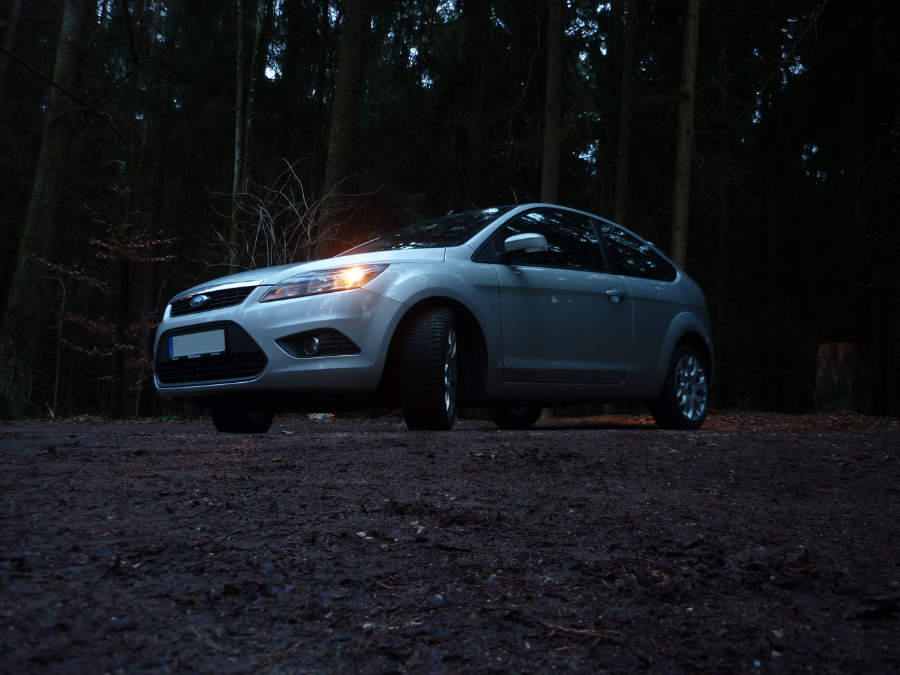 Ant View Car Dark Dirty Ford Ford Focus Forest Light Outdoors Parking Side View Travel