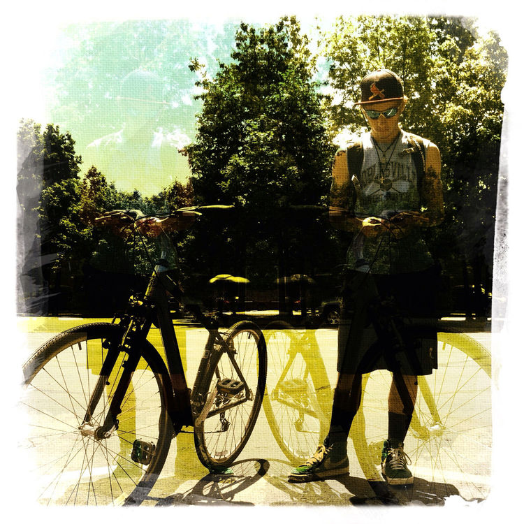 Biking in Noblesville by mudsock