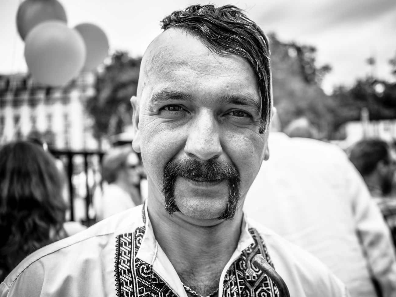 This year I completely missed annual Ukrainian Vyshyvanka March and how lucky I was to bump into this even completely by chance. Kozak Ukraine Vyshyvanka Portrait Human Face Street People Maxgor.com Urban Maxgor Black And White Lifestyles Black And White Photography Rawstreets Monochrome Photography Stranger Street Photography The Portraitist - 2017 EyeEm Awards The Photojournalist - 2017 EyeEm Awards