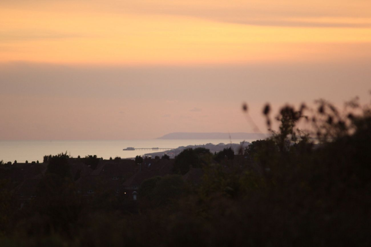 Taken from Woodland Ave looking across Worthing to the Isle of White...