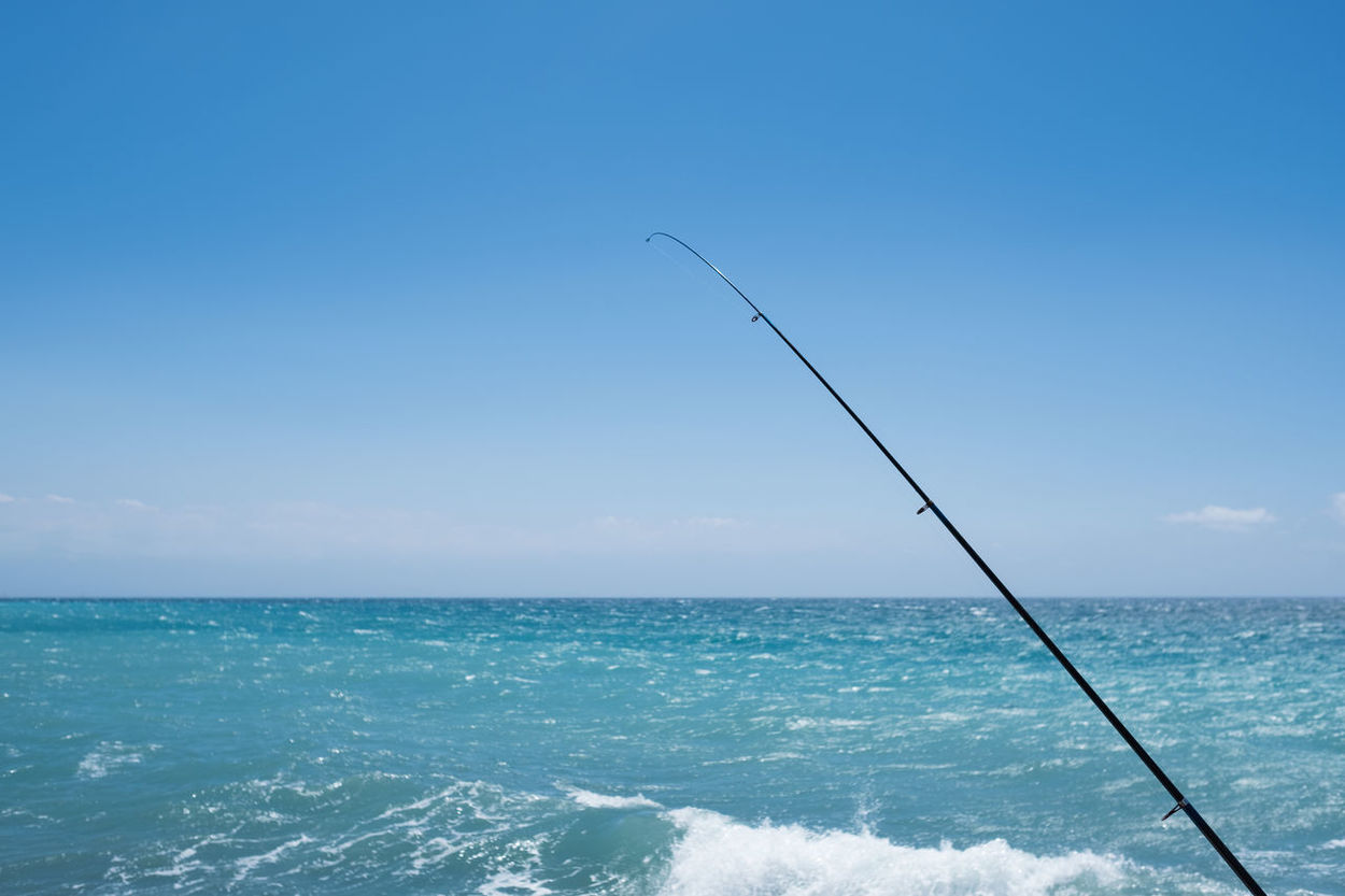 Amalfi Coast Beauty In Nature Blue Clear Sky Copy Space Day Fishing Fishing Pole Fishing Rod Horizon Over Water Mediterranean Culture Mediterranean Sea Nature No People Outdoors Pier Rippled Scenics Sea Sky Tranquil Scene Tranquility Turquoise Colored Water