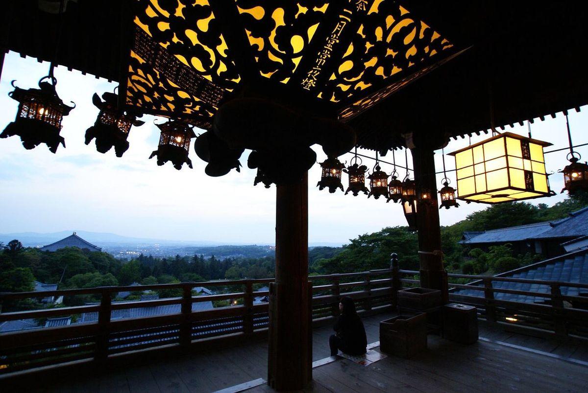 Sunset Evening Sky Alone Girl Toudaiji Nara Nara,Japan Japanese Temple Sony Sony α♡Love 東大寺 奈良