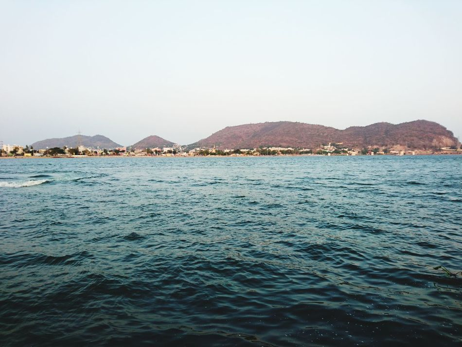 Water Mountain Travel Destinations Outdoors No People Beauty In Nature Scenics Sunset City Sea Nature Urban Skyline Sky Moon Cityscape Day xperia Sony Xperia Beauty In Nature XperiaZ5 Xperıa Vijayawada