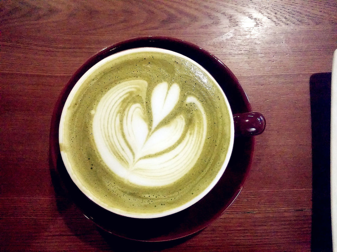 Close-up Coffee Cup Freshness Greentea Greentea Latte Greentealovers Latte Latteart Lattelovers Refreshment