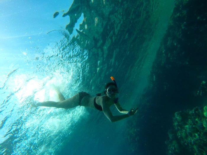 Egypt Girl Russian Girl Girl Under Water Sea Red Sea Snorkeling Under Water