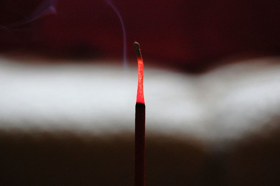 Red Single Object Burning No People Pink Color Heat - Temperature Close-up Outdoors Day Encens Incense Sticks Incense Burner Incense Incensestick Incenses Incensesticks Incense Smoke