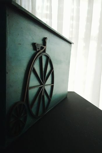 Bicycle Window Indoors  Sunlight No People Curtain Home Interior Day Close-up Box Relax Rainy Day Travel Blue Green