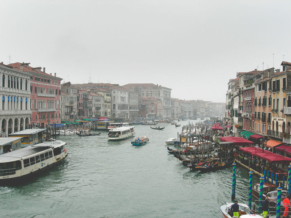 Architecture Building Exterior Canal City Cultures Day Mode Of Transport Nautical Vessel No People Outdoors Sky Transportation Travel Travel Destinations Venice Venice Boats Venice Canal Italy Venice Canals, CA Venice, Italy Water Waterway