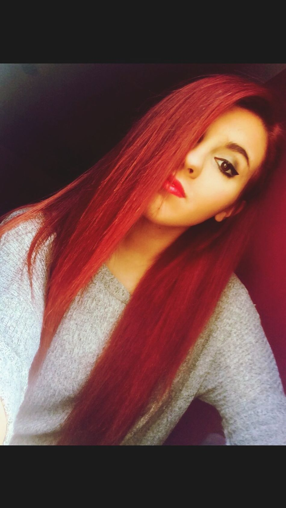 It's like the sun came out That's Me Hello World red hair ❤ Love