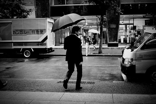 rain guy… Shades Of Grey Monochrome B/w Tokyo Japan Carl Zeiss Biogon Canon M3