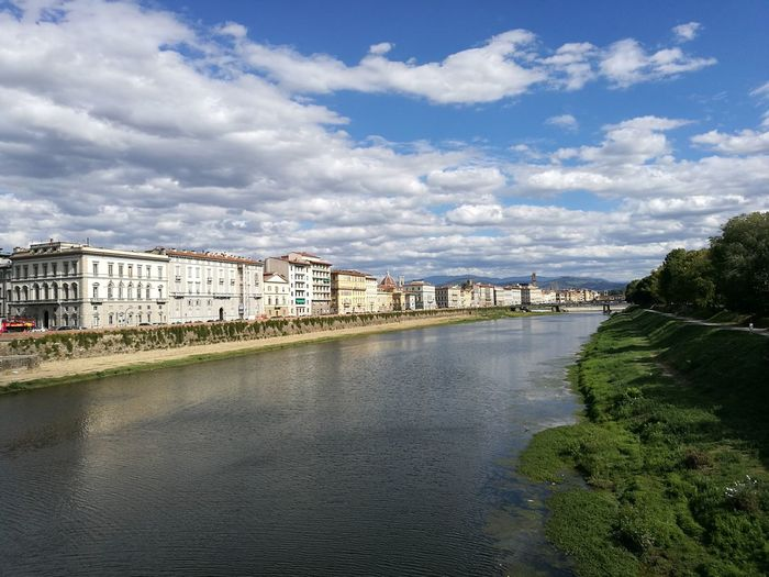 Cityscape Architecture Cloud - Sky Building Exterior Outdoors Sky No People Built Structure Residential Building Water City Day River Florence Italy Arno River Firenze With Love Firenzemadeintuscany