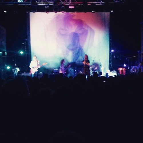 Warpaint with the happiest company ever. Thanks Izzy x