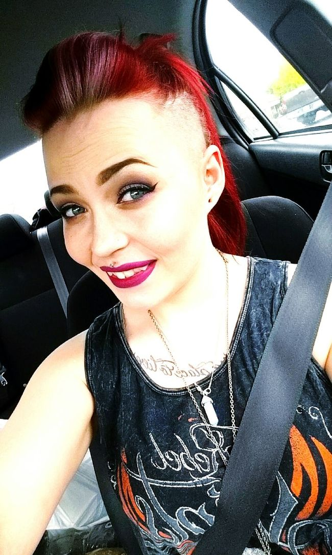 Muotd Eyebrows On Fleek Red Hair ❤ Silver Hair Side Shave