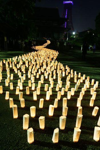 2015  Candle Light Candle Night Candle Night At Zojozi Event Illuminated Japan Lamp Light Night Shrine Tokyo キャンドルナイト 増上寺 Temple Zojoji Tokyo Tower 東京タワー Milky Way 天の川 River