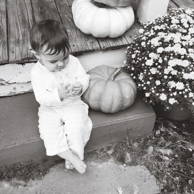 Childhood Full Length Boy Lifestyles Innocence High Angle View Holding Toddler  Day Outdoors Nature Dramatic Angles Monochrome Photography Blackandwhite Black And White Portrait Autumn