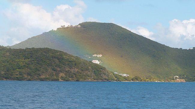 Rainbow in a valley Carribean Sea Tropical Paradise Tropical Island Saint John