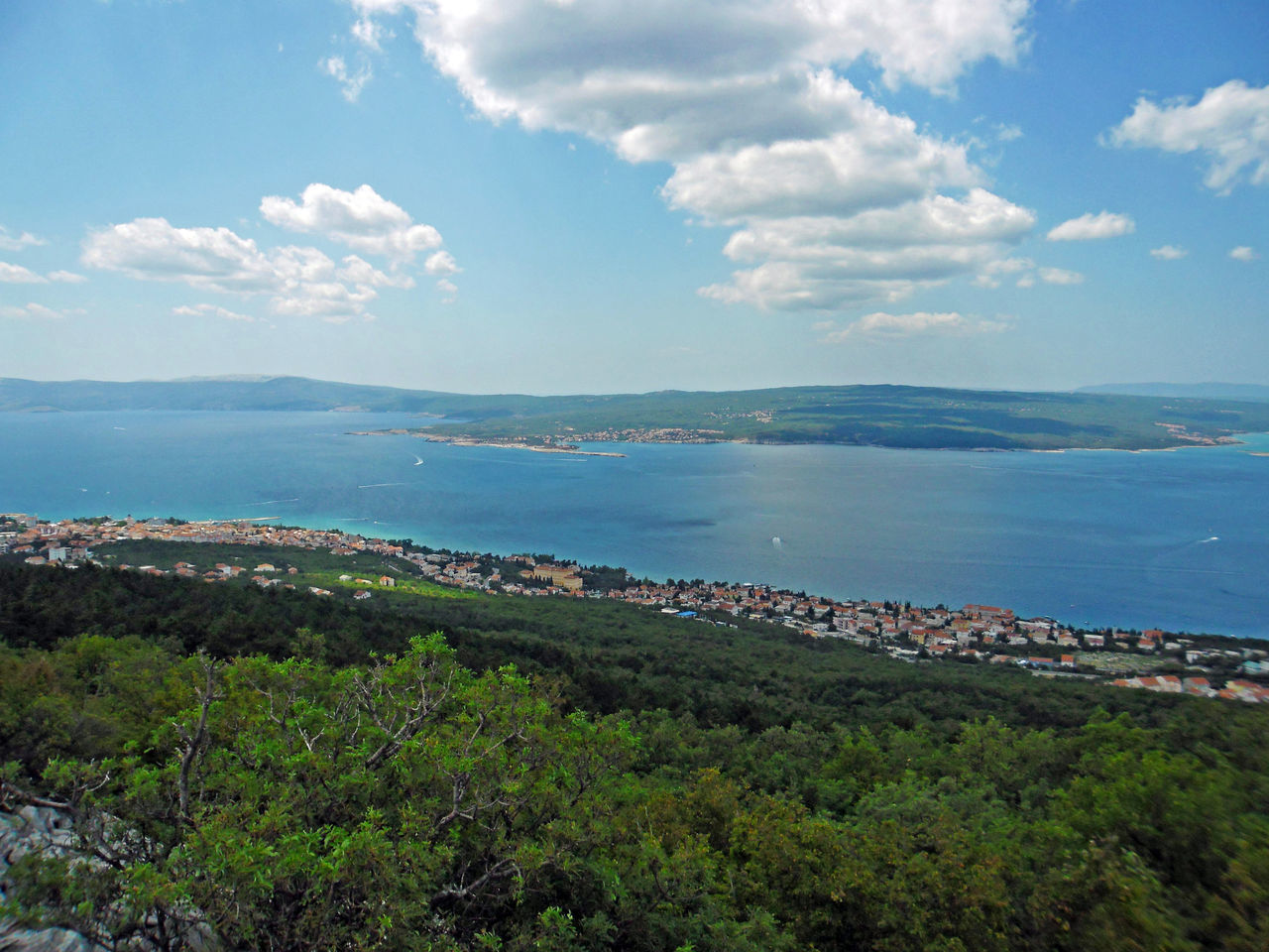 Love Road,view down to the coast,Crikvenica,Croatia,Europe,5 Adriatic Coast Coastline Crikvenica Croatia Day Eu Europe High High Angle View Highclimbing Holydays Love Road Nature Peak Recreation  Scenics Sea Seascape Sky Summer Tourism Tranquility Vacations