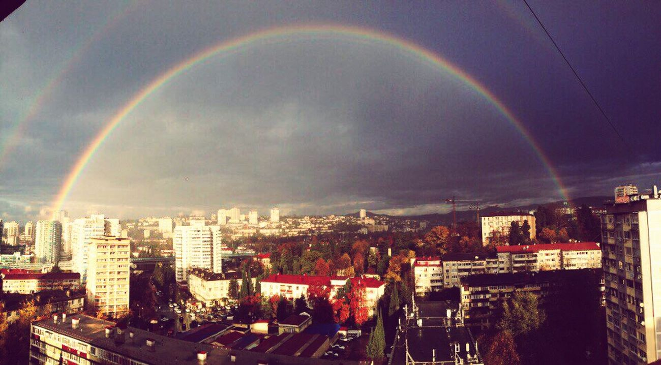 Rainbow Bridge two rainbows Sochi rain sun First Eyeem Photo