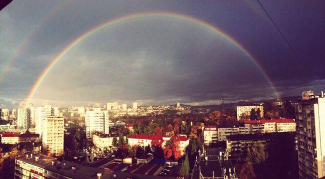 Rainbow Bridge two rainbows Sochi rain sun First Eyeem Photo
