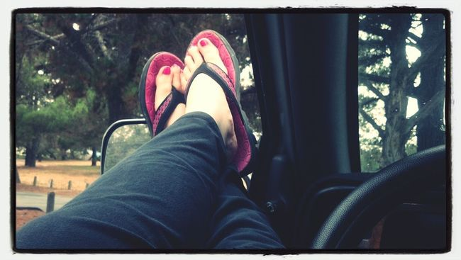 Relaxing! Kick The Feet Up Raining Don't Care Peaceful Place