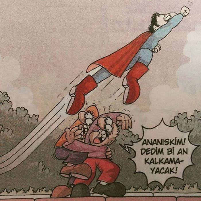 Düşünsene bir an uçamasa 😄😁 Komik Karikatur Karikatur Mizah eglence eglenceli komedi penguen girgir uykusuz caps istanbul fun funny superman