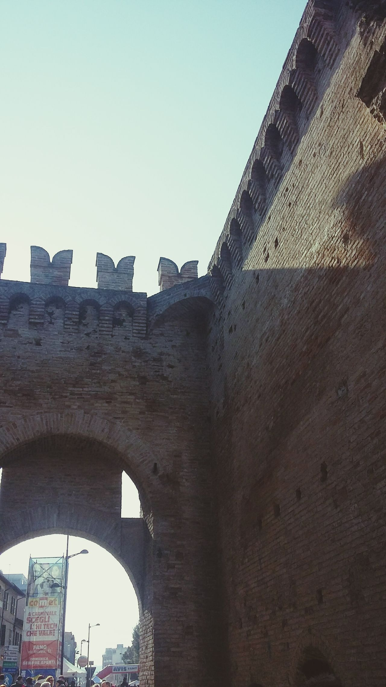 Italia Italy Fano Castle Tower Castle View  Castello Roman Castle Ruins Mura Ghibellini Castle View  Castle Castel Roma EyeEmNewHere