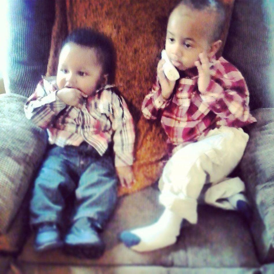 2 of 3 of my nephews... MissingtheBoys