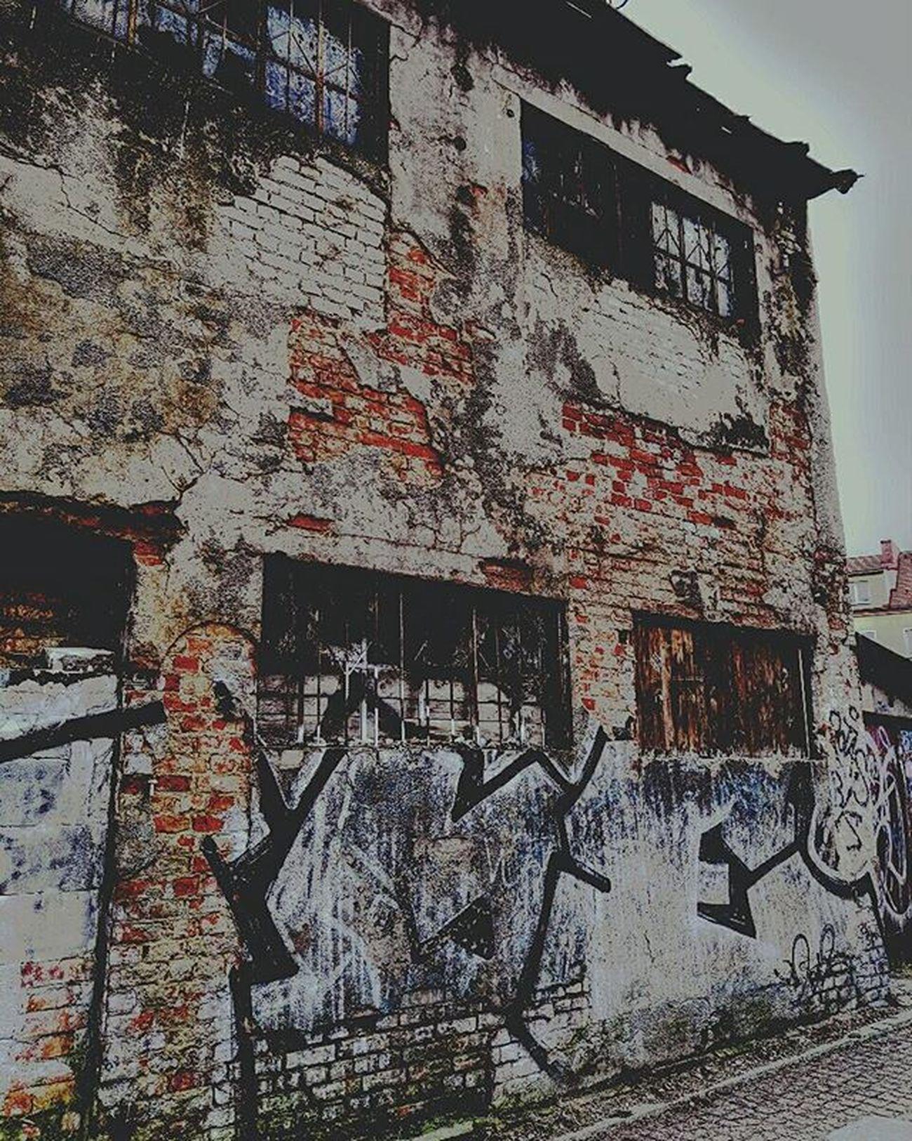 Architecture Slums Ruins Dark Textute Bulding Wall
