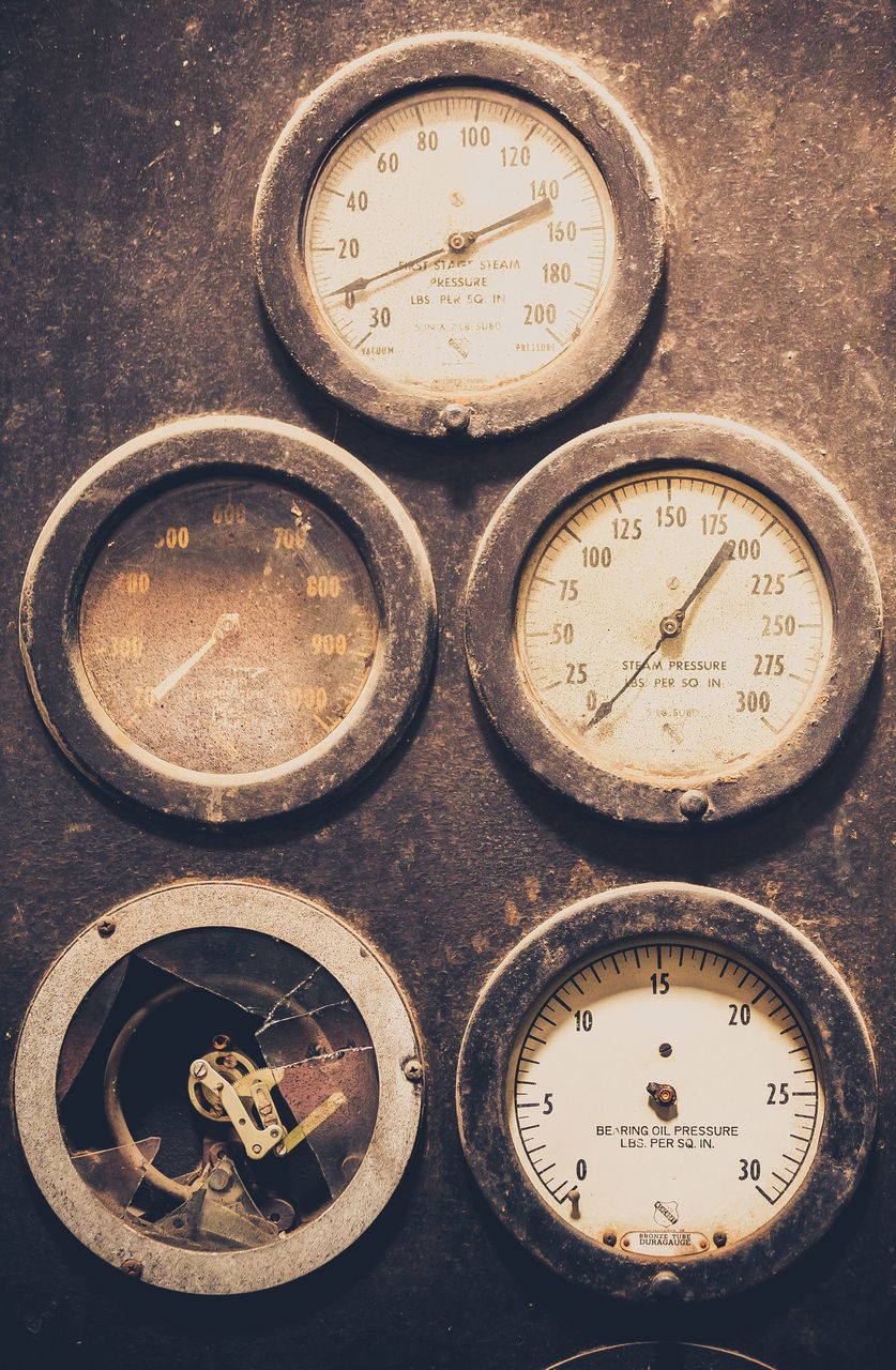 instrument of measurement, accuracy, number, no people, time, close-up, communication, machinery, indoors, gauge, pressure gauge, clock, minute hand, clock face, day
