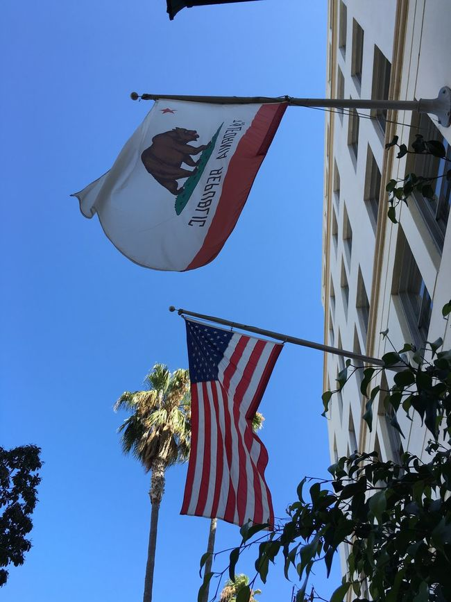 Californian Flag Santa Barbara, CA By Cathy Badi